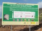 Cartel colocado cuando se repobló la zona de Las Salinas... Desaparecido...