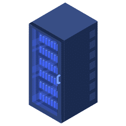 isometric center data rack server servers icon