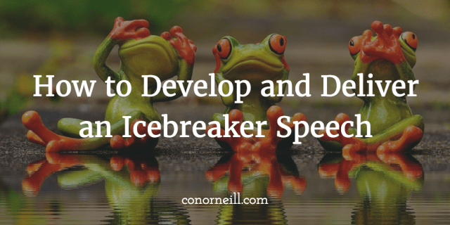 Three Examples of Ice-Breaker Speeches – Moving People to Action