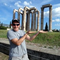 Holding up the Temple of Zeus