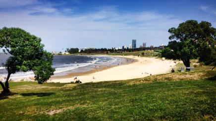 Buceo beach from the park