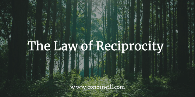 The Law of Reciprocity works… if you give freely