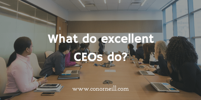 What do excellent CEOs do? (according to McKinsey research)