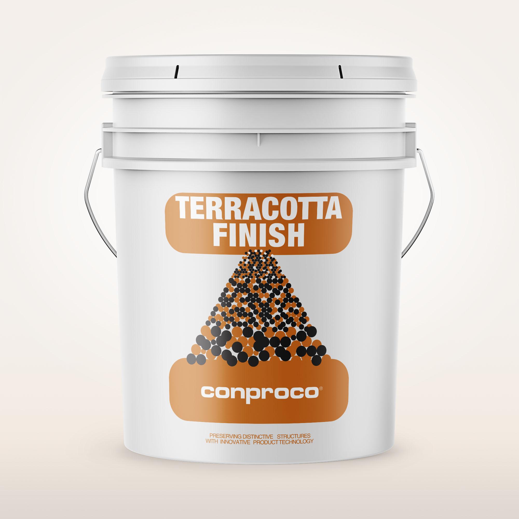 Terracotta finish 1 gallon for restoring terracotta glaze.