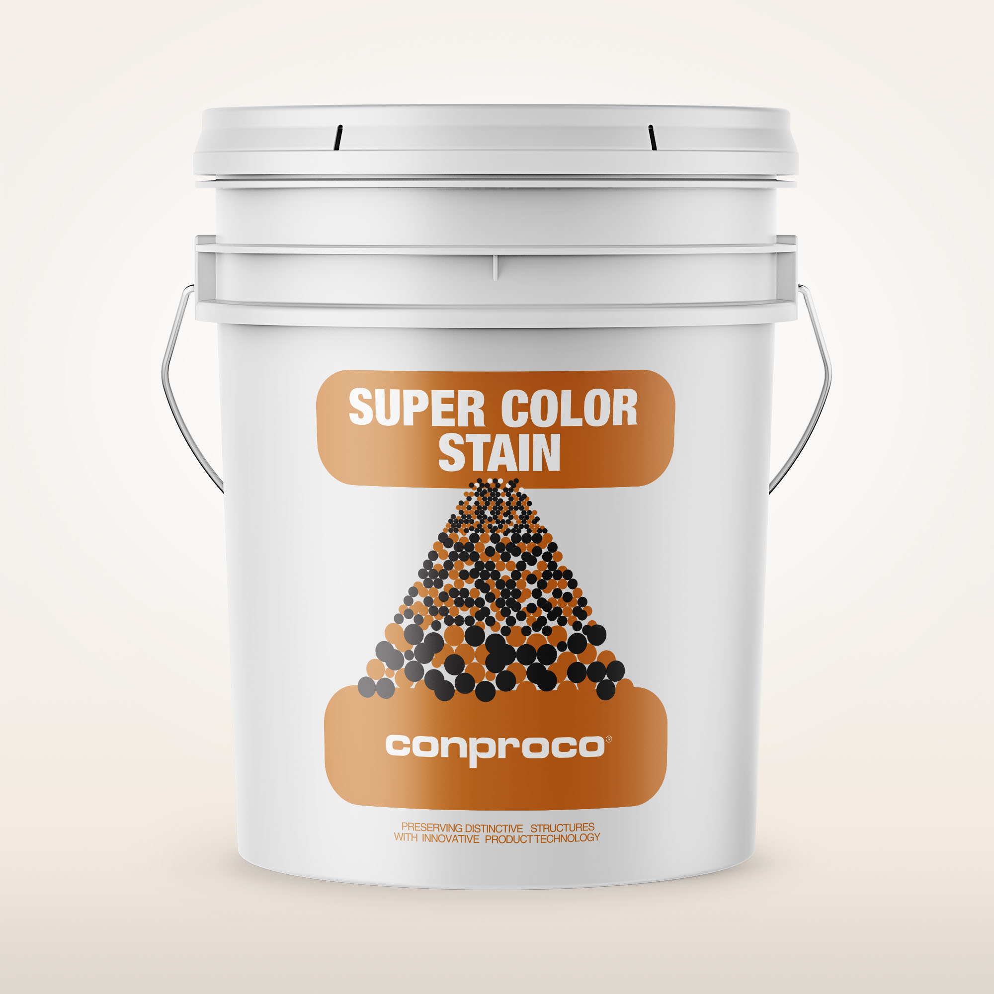Super Color Stain 5 gallon pail of stain for concrete masonry