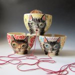 kitty knit bowl
