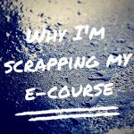 scrapping e-course