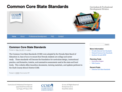I built and customized this website to reflect the look and feel of CCSD's main pages (ccsd.net).