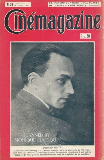 Cinemagazine back cover with Conrad, July 17, 1926