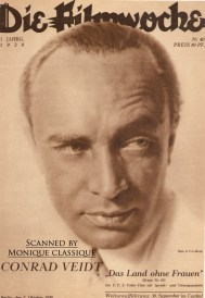 Conrad Veidt on the cover of Die Filmwoche, 1929