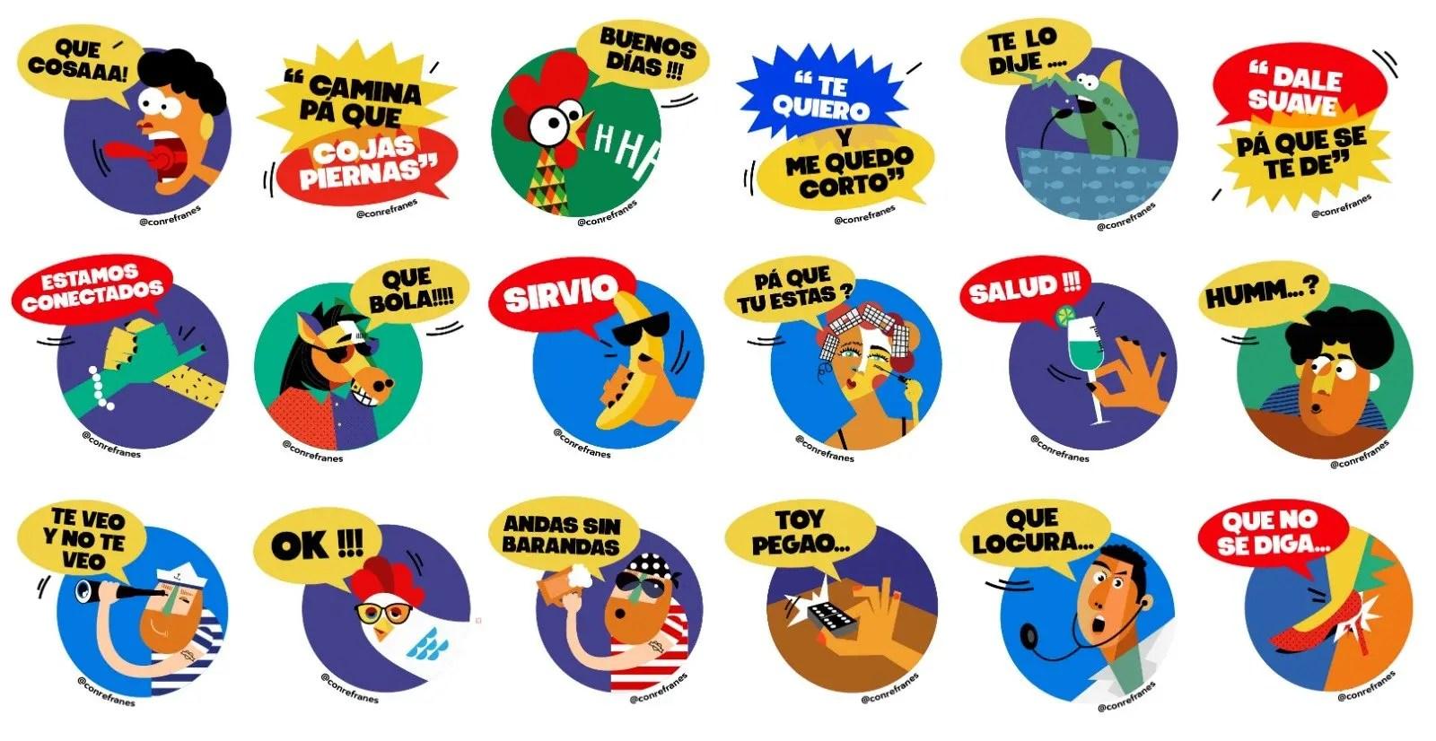stickers cubanos para whatsapp con refranes