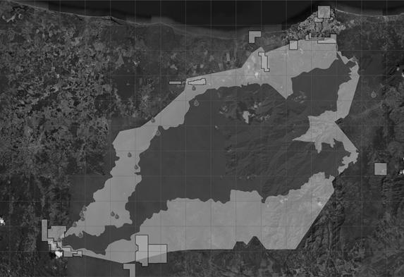 Mapa – Ubicación de Concesiones Mineras e Hidroeléctricas en el Parque Nacional Pico Bonito