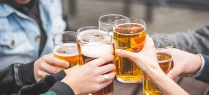 Beer drinking can be addictive behavior if uncontrolled