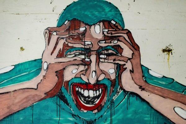 fear - a portrait depicting fear