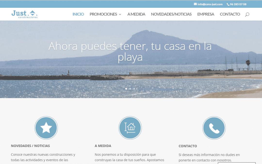 catura de pantalla de la nueva web
