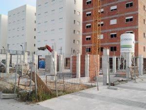 vista obras en residencial Migjorn de la Playa de Oliva