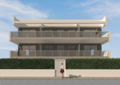 Apartamentos 1ª línea Playa de Oliva