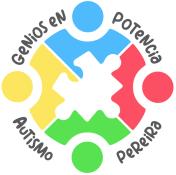 Logo de genios en potencia autismo pereira