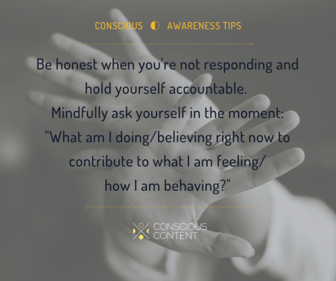 Hands creating boundary | Responding rather than reacting | Mindfulness | Conscious Content
