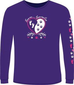 yin yang purple cat shirt