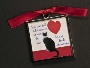 valentines refrigerator cat magnet