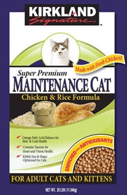 Kirkland Signature Cat Food Chicken Rice Recall