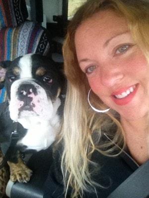 Joy-with-dog