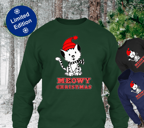 Meowy-Christmas-t-shirt