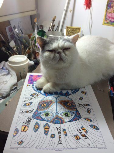 cat-desk-painting