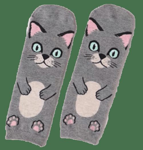 Gray_Cat_Hug_Socks