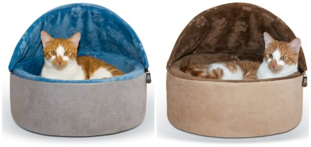 hooded-cat-bed-blue-tan