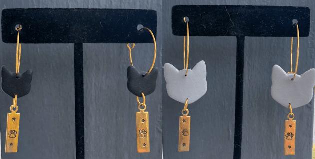 black-grey-cat-earrings