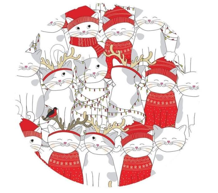 holiday-cat-coasters