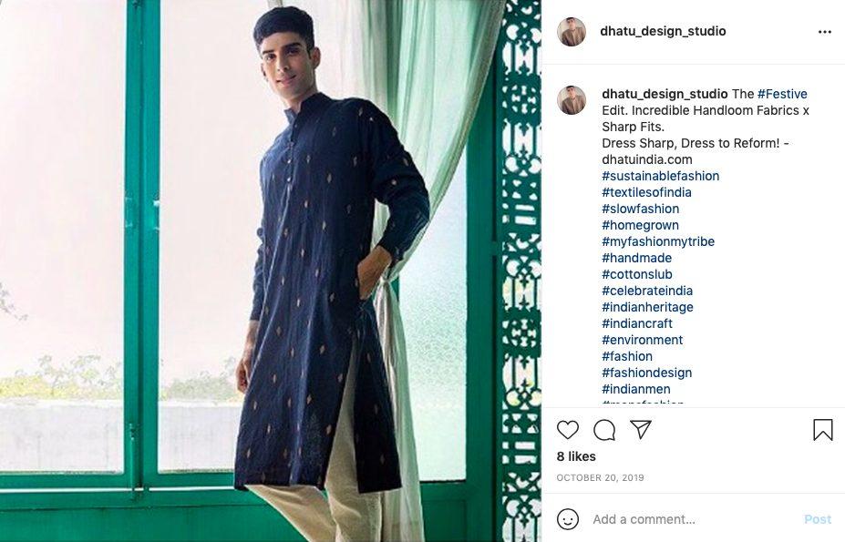 Indian festive look brand for him - Dhatu design studio