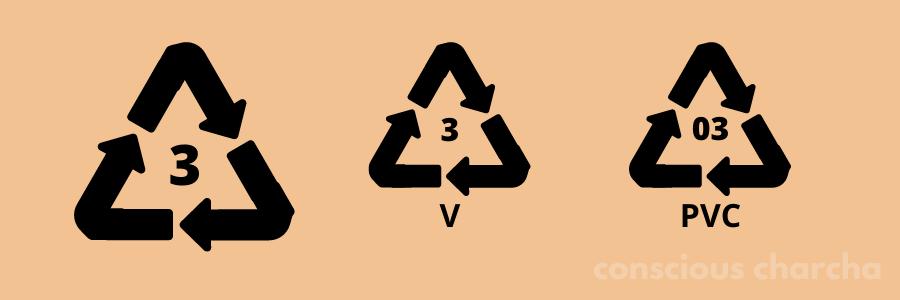 Number 3 PVC Plastic type