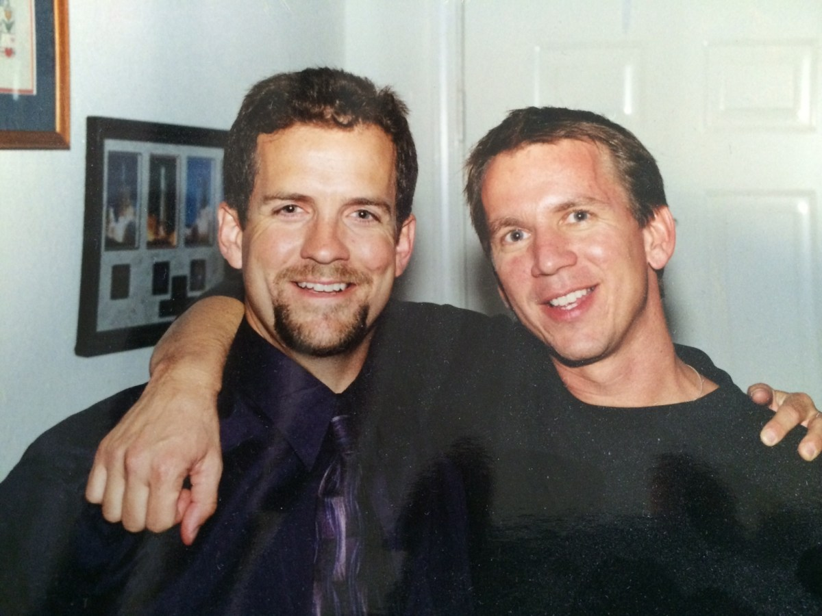 MINDBODY cofounders Rick Stollmeyer (right) and Blake Beltram in 2001