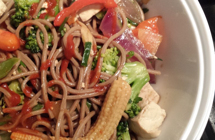 How the Noodles Fall… Vegetable & Tofu Stir-Fry with Soba Noodles