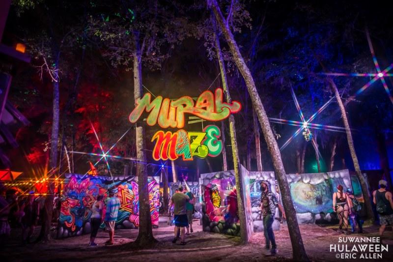 Mural Maze at Suwannee Hulaween - Spirit of Suwannee Music Park