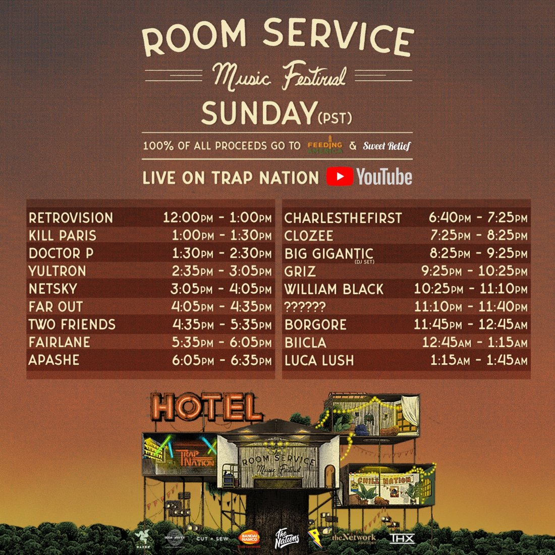 roomservice sunday trap