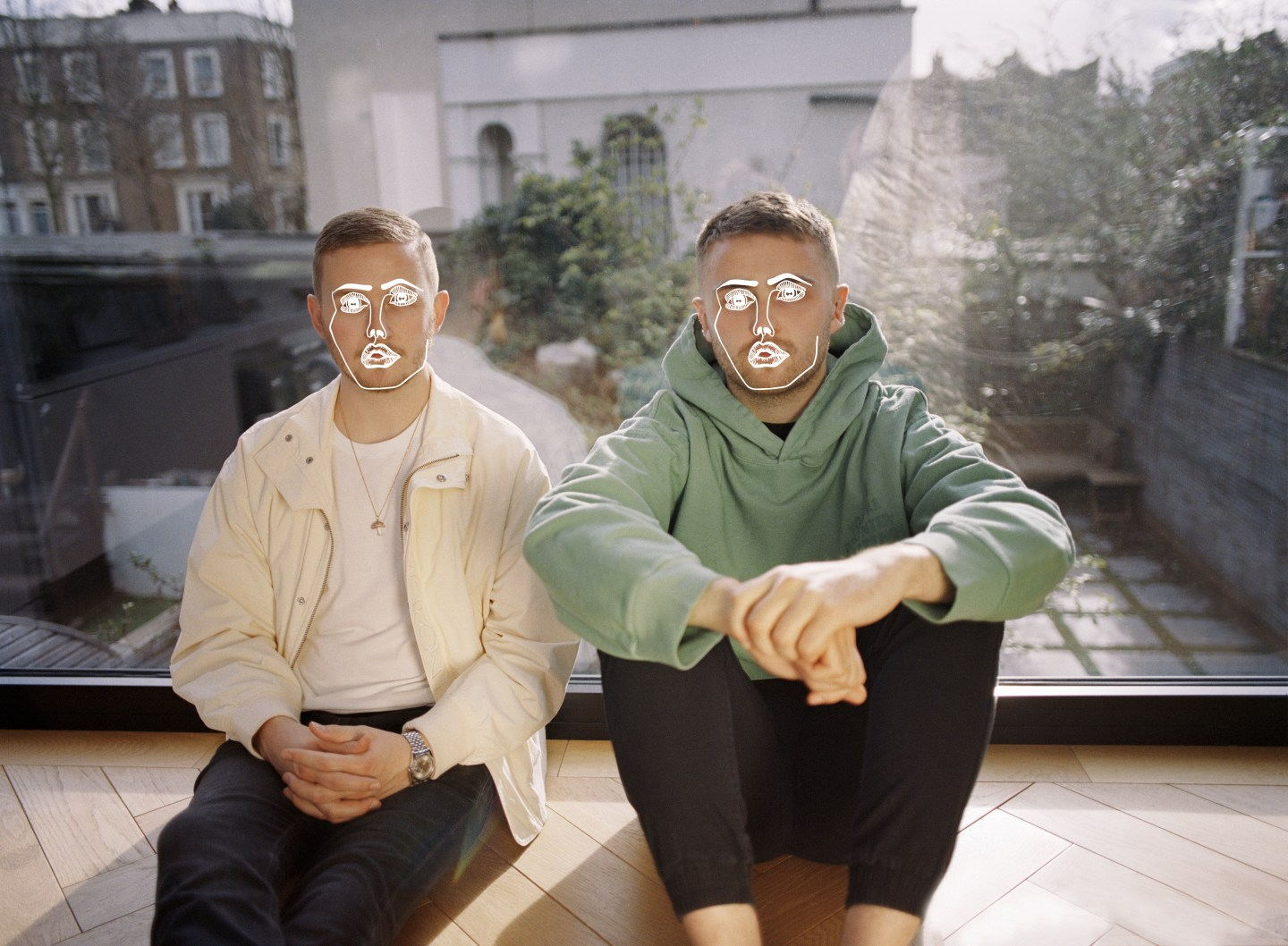 Disclosure brothers pose against outdoor UK background