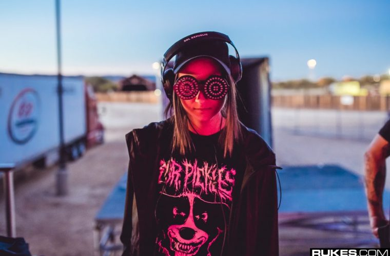 REZZ stands backstage at Goldrush music festival in Arizona.