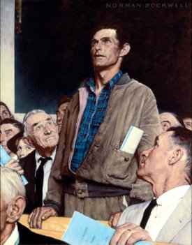 Freedom of Speech painting by Norman Rockwell