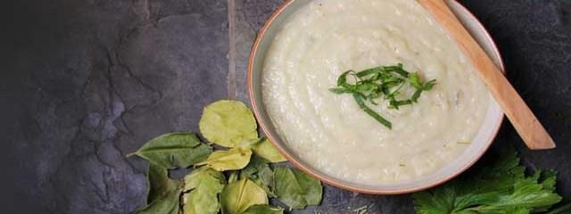 Celeriac & Coconut Soup (With Kaffir Lime Leaves and Lemongrass)