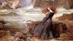 "John William Waterhouse's painting ""Miranda—The Tempest."""