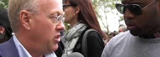 "Chris Hedges at Flood Wall Street: ""Capitalism Exploits Humans"""