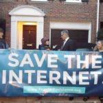 Breaking Video: Net Neutrality Advocates Blockade FCC Chairman's Georgetown Home