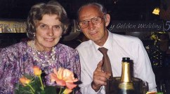 Harry and Mavis during their 50th wedding anniversary  Photo: Caters