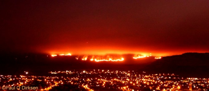 Fish Hoek on Fire by Paul Quentin Dirksen
