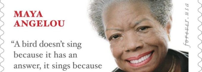 Maya Angelou Memorial Stamp Features Quote from Different Author and Other Famous Lines We All Get Wrong