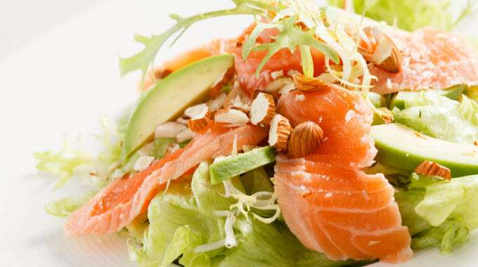 salad with salmon-avocado-nuts-compressed
